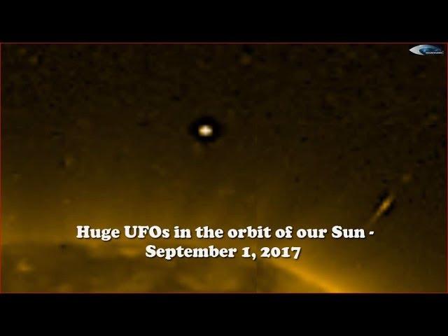 НЛО у Солнца 1 сентября 2017