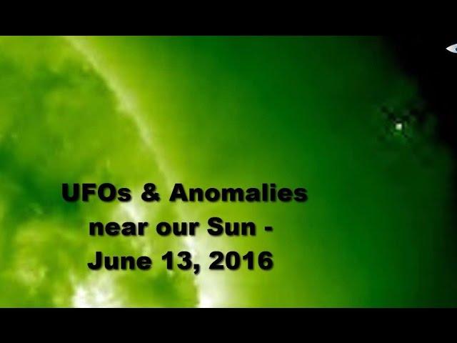 НЛО у Солнца 13 июня 2016