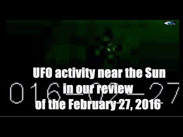 НЛО у Солнца 27 февраля 2016