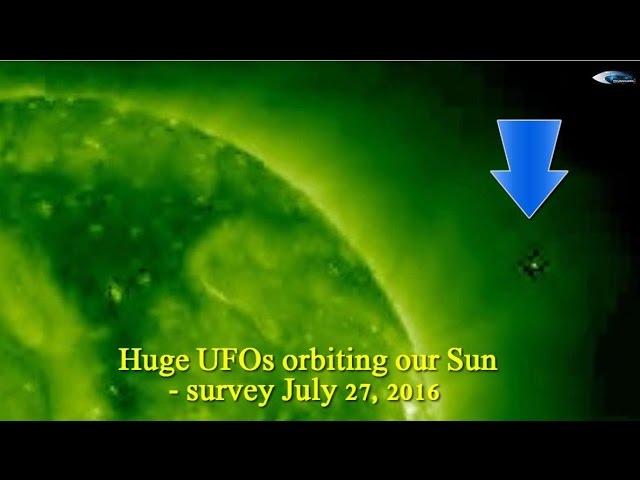 НЛО у Солнца 27 июля 2016