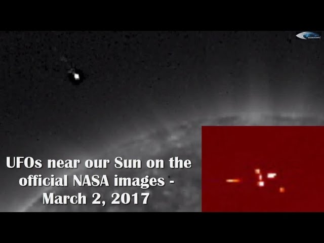 НЛО у Солнца 2 марта 2017