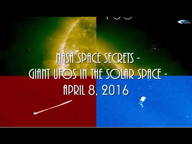 НЛО у Солнца 8 апреля 2016