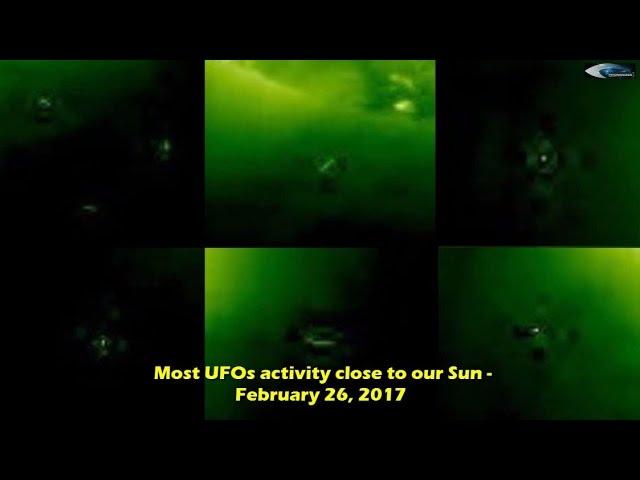 НЛО у Солнца 26 февраля 2017