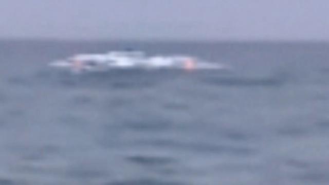 НЛО садиться на воду в Средиземном море