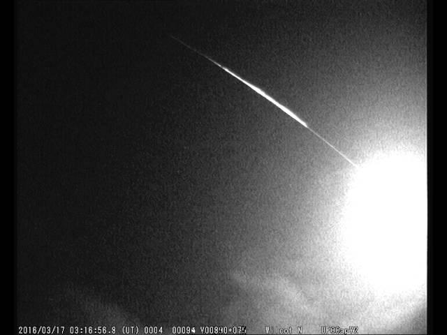 Метеорит над Англией 17 марта 2016 года. Видео 3