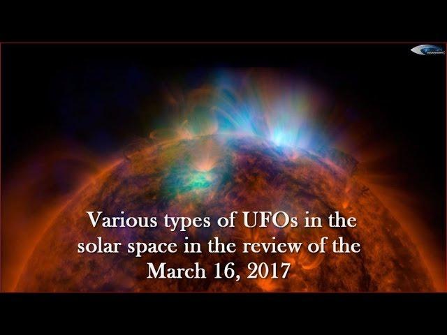 НЛО у Солнца 16 марта 2017