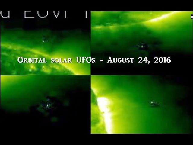 НЛО у Солнца 24 августа 2016
