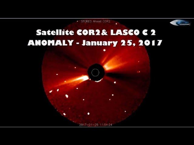 НЛО у Солнца 25 января 2017