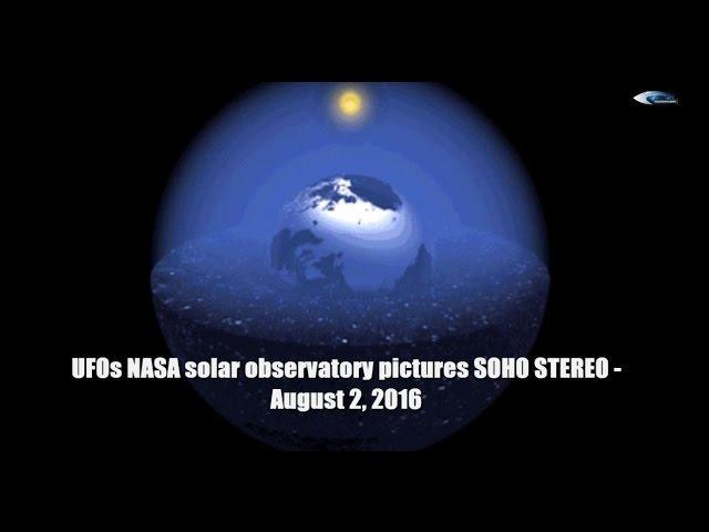 НЛО у Солнца - 2 августа 2016