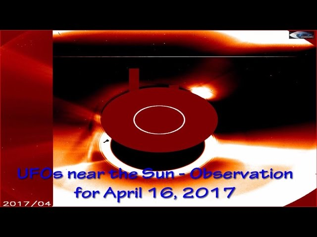 НЛО у Солнца 16 апреля 2017
