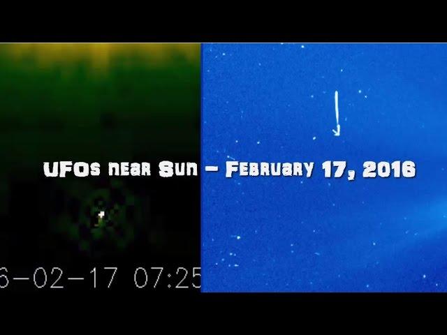 НЛО возле Солнца 17 февраля 2016