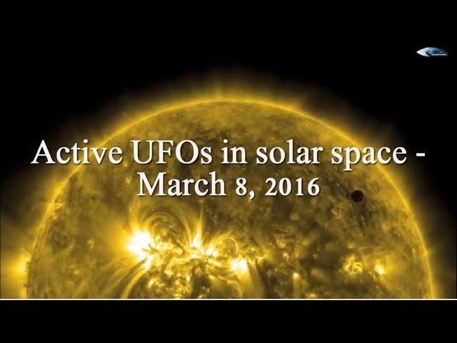 НЛО у Солнца 8 марта 2016