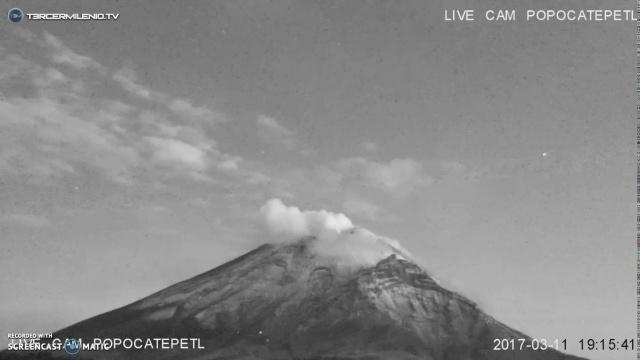 Очередной НЛО у вулкана Попокатепетль
