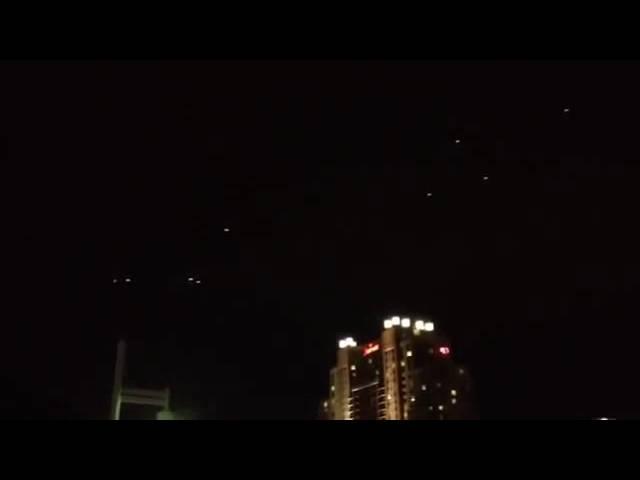 Видео НЛО в небе над Лос-Анджелесом