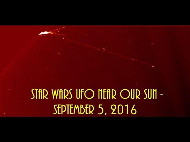 НЛО у Солнца 5 сентября 2016