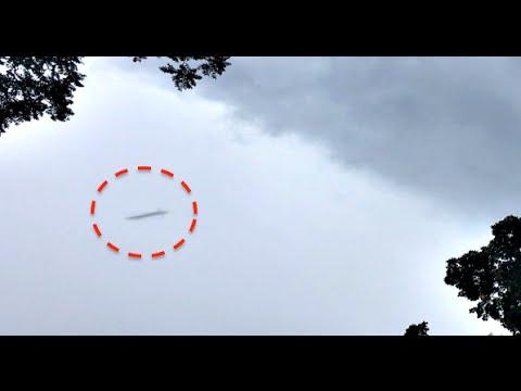 НЛО и инопланетянин попал на видео
