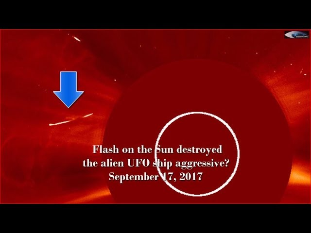 НЛО у Солнца 17 сентября 2017