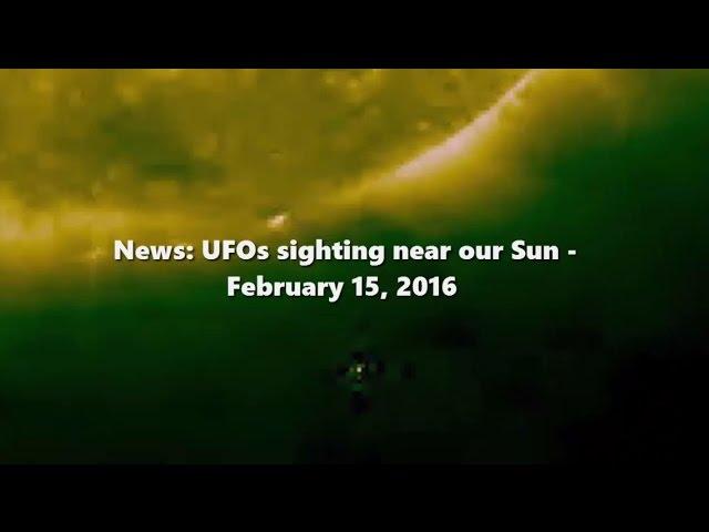 НЛО у Солнца 15 февраля 2016