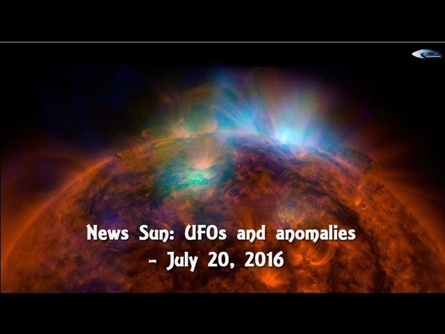 НЛО у Солнца 20 июля 2016