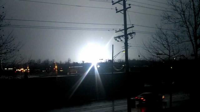 Видео огней в небе штата Мэриленд