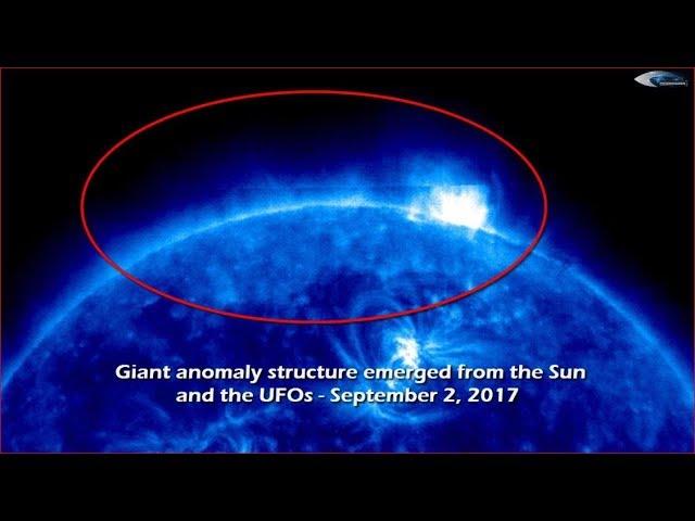 НЛО у Солнца 2 сентября 2017