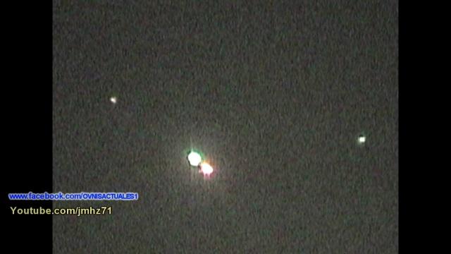 Видео НЛО в ночном небе