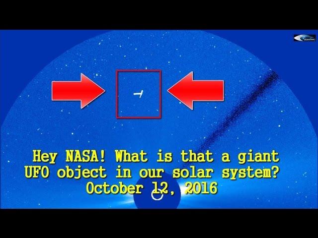НЛО у Солнца 12 октября 2016