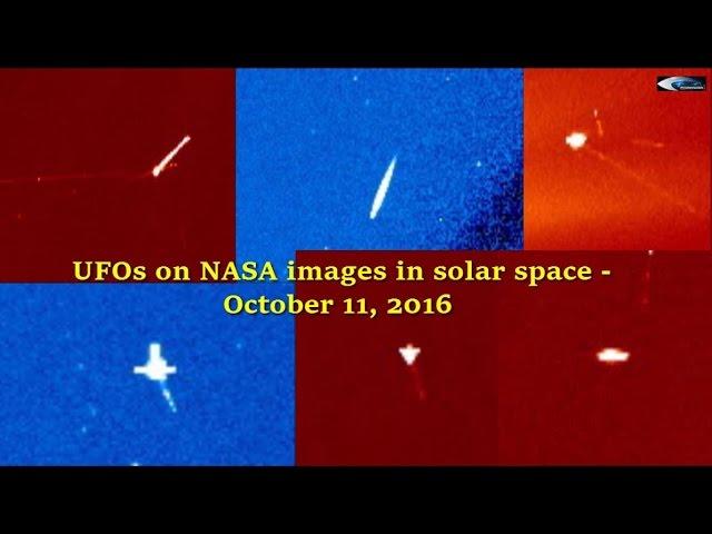 НЛО у Солнца 11 октября 2016