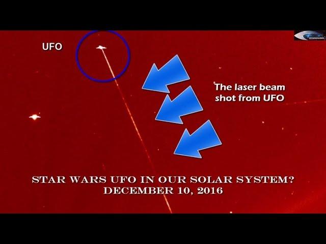 НЛО у Солнца 10 декабря 2016