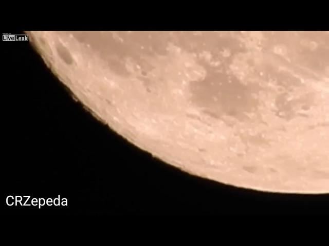Видео НЛО у Луны