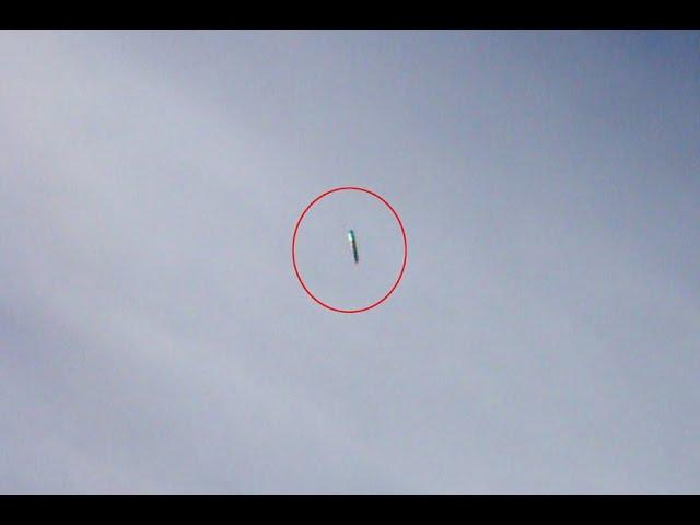 Видео Сигарообразный НЛО над Великобританией