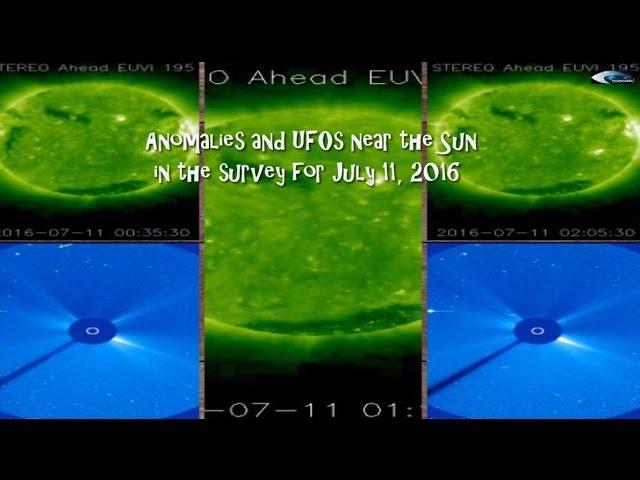 НЛО у Солнца 11 июля 2016