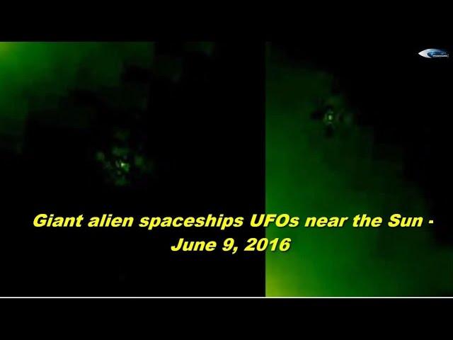 НЛО у Солнца 9 июня 2016