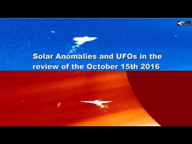 НЛО у Солнца 15 октября 2016
