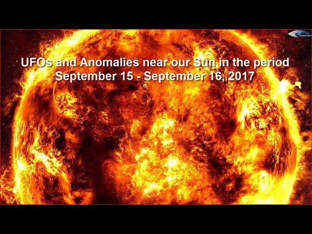 НЛО у Солнца 15 и 16 сентября 2017