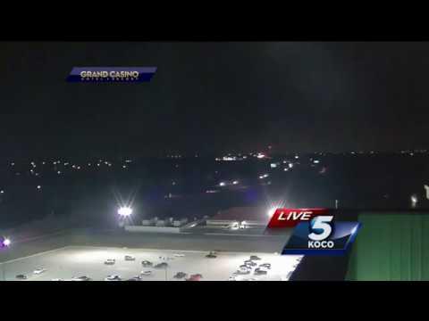 НЛО попало в кадр прямого эфира новостей в Оклахома-Сити, США