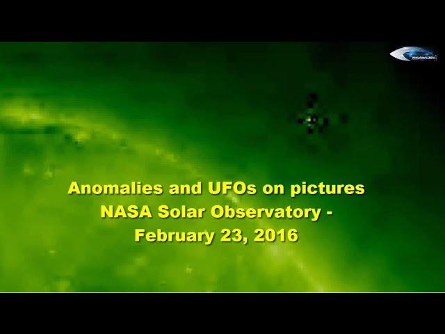 НЛО у Солнца 23 февраля 2016