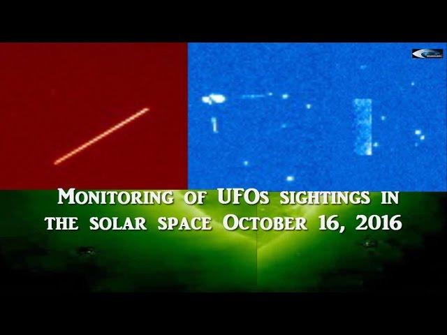 НЛО у Солнца 16 октября 2016