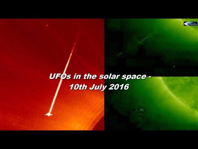 НЛО у Солнца 10 июля 2016