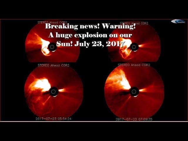 НЛО у Солнца 23 июля 2017