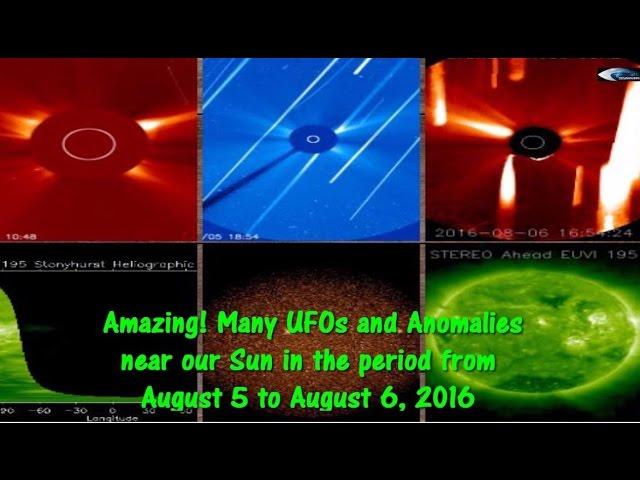 НЛО у Солнца. Обзор за 5 и 6 августа 2016
