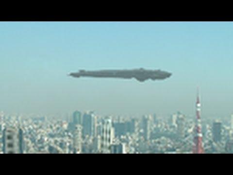 Летающая тарелка в небе Токио