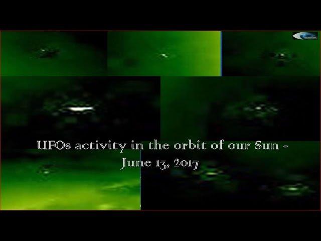 НЛО у Солнца 13 июня 2017