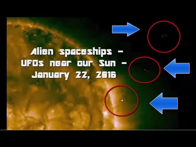 Видео НЛО возле нашего Солнца - 22 января 2016