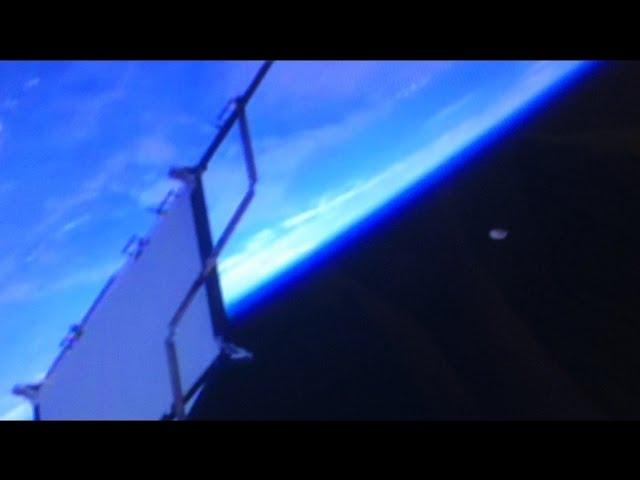 Видео НЛО заснятого камерами МКС