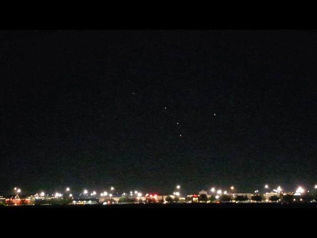 Пять НЛО в ночном небе над Джэксонвиллем, Флорида