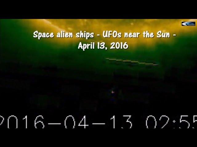 НЛО у Солнца 13 апреля 2016