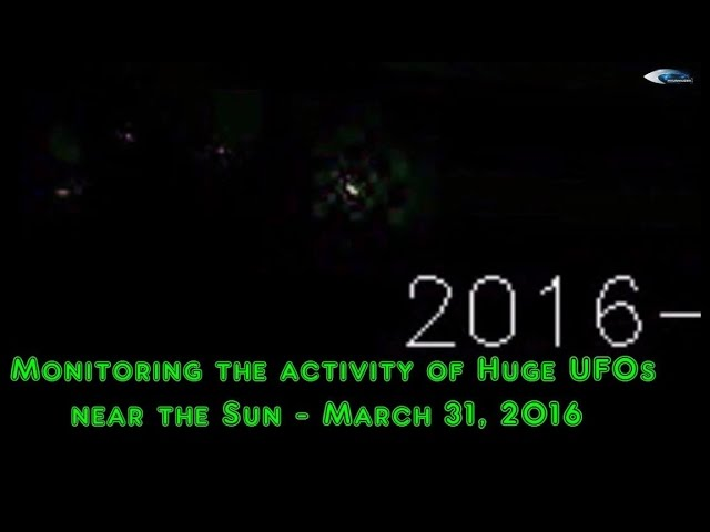 НЛО у Солнца 31 марта 2016