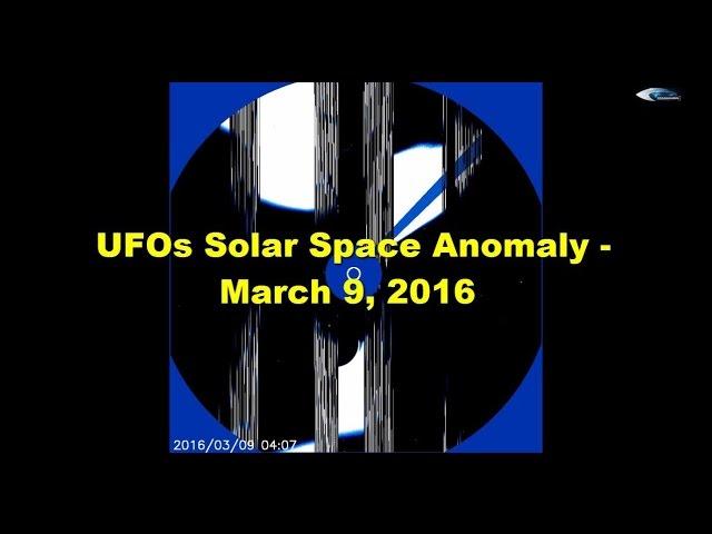 НЛО у Солнца 9 марта 2016