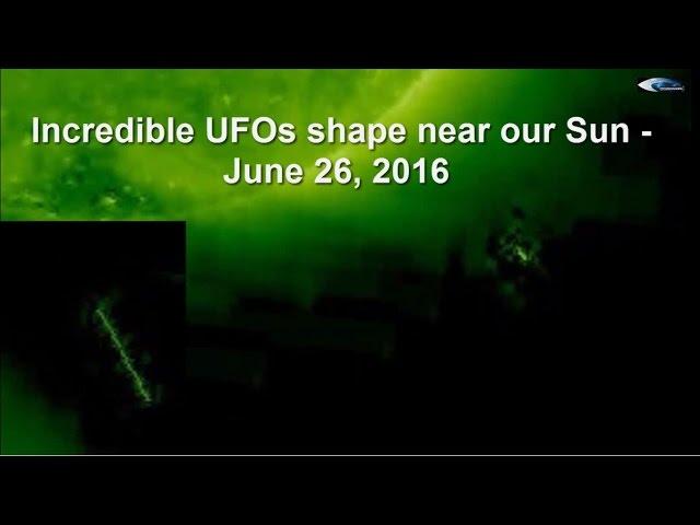 НЛО у Солнца 26 июня 2016